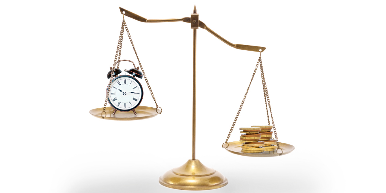 Time versus Money scale for investment
